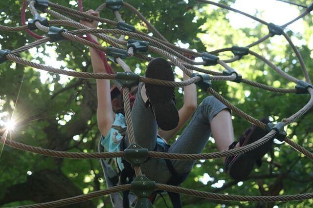 Climbing forest climbing garden Garmisch Partenkirchen