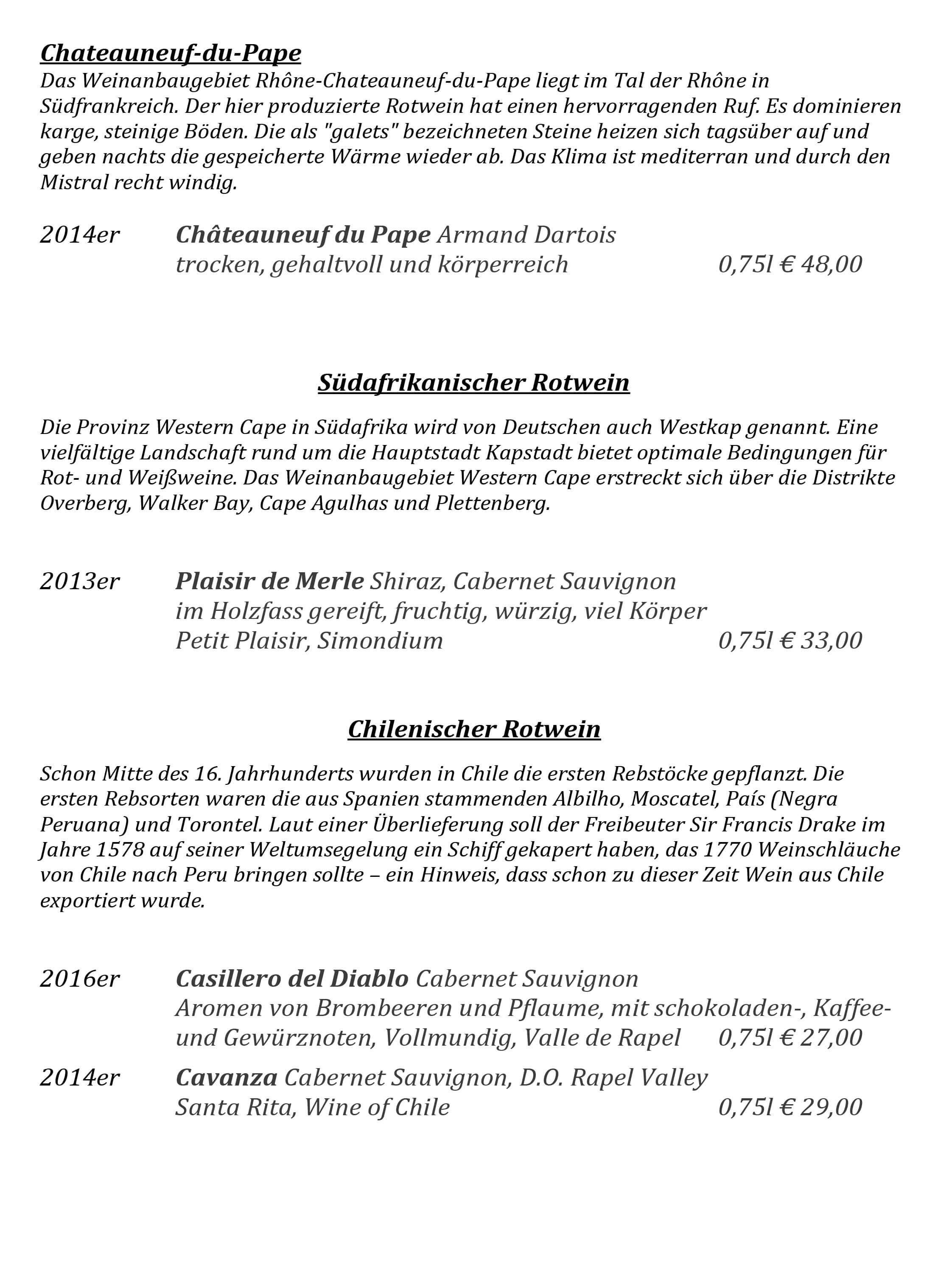 Flaschenweinkarte Alpenhof Grainau Sterne Retaurant