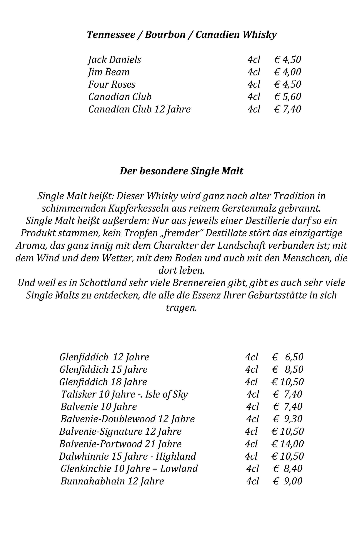 4-Sterne-Hotel Alpenhof Grainau Salonkarte Restaurant